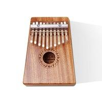 GECKO 10 Keys Kalimba K10M Natural Solid Mahogany Thumb Piano Finger Percussion Keyboard Music Instruments Kids Mahogany Wooden