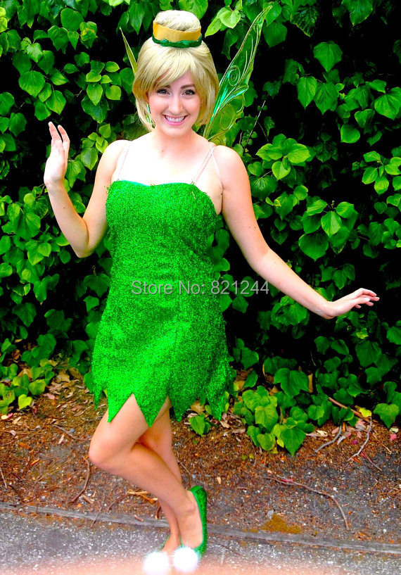 tinker bell deluxe tinkerbell adult green fairy pixie halloween costume tailor made on aliexpresscom alibaba group - Green Fairy Halloween Costume