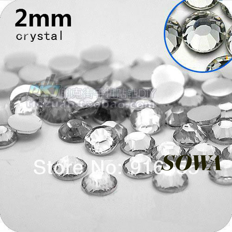 Free Shipping 10000pcs/bag Small Size 2mm Crystal Color Resin Flatback beads,Nail Art beads,DIY Decoration
