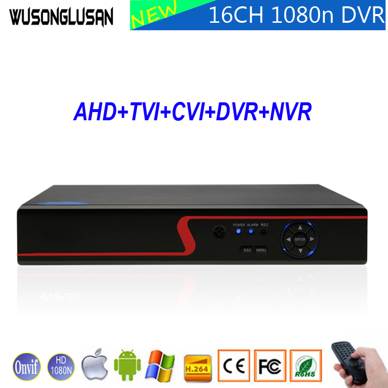1080N 960P 720P 960H 16CH AHD DVR Video Recorder Home CCTV Camera Hi3521A 16 Channel 1080N