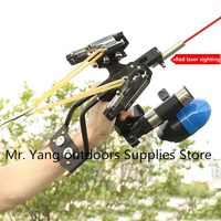High Quality High Velocity Elastic Hunting Fishing Slingshot Shooting Catapult Bow Arrow Rest Bow Sling Shot