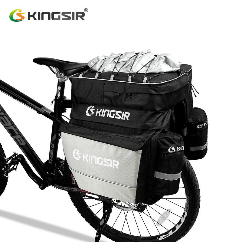 1x Large Volume Bicycle Luggage Carrier Bike Rear Rack Luggage Container Bag with Fixed Belt and Rainproof Cover free shipping