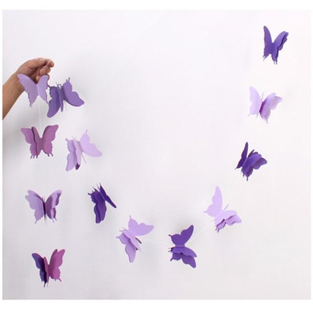 Purple Butterfly 28MetersOne Colorful Ribbon Wedding Birthday
