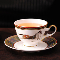 Coffee cup saucer set bone china Tea mug set European Court design tea cup coffee mug set