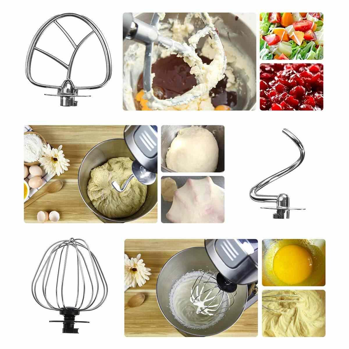 3-em-1 Stand Mixer 6 Velocidade Food-Misturador Liquidificador Elétrico Multifuncional 1000 W Moedor De Carne de Alimentos processador de Cozinha Cozinhar Ferramentas