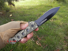 3CR13 + G10 Tactical Folding Knife Survival Pocket Knife Camouflage Camping Knife Half Sawtooth