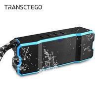 TRANSCTEGO altoparlante Senza Fili del bluetooth USB Esterno Portatile Impermeabile IPX6 Mini SD Card Per Bicicletta Trekking Musica stereo surround