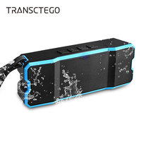 TRANSCTEGO Wireless Bluetooth Speaker USB Outdoor Portable Waterproof IPX6 Mini SD Card For Biking Hiking Stereo