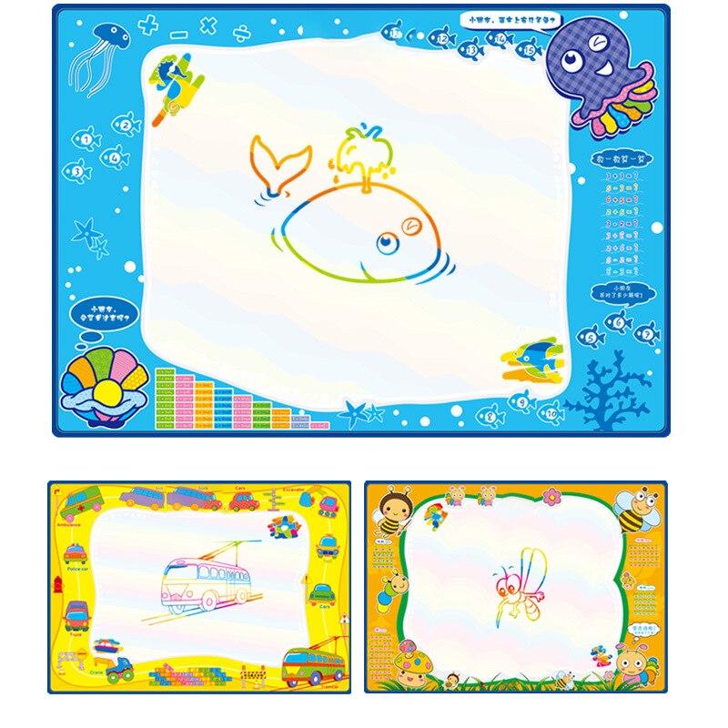 100x70 cm Bébé Graffiti Enfants Jouets de L'eau avec Magie stylo Doodle Peinture Image Dessin Eau Tapis De Jeu en Dessin jouets