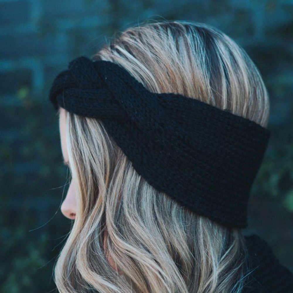 1 шт. Женская повязка на голову широкая вязаная крючком бант вязаный Тюрбан повязка на голову уши теплые Повязки На Голову Повязка На Голову аксессуары для волос