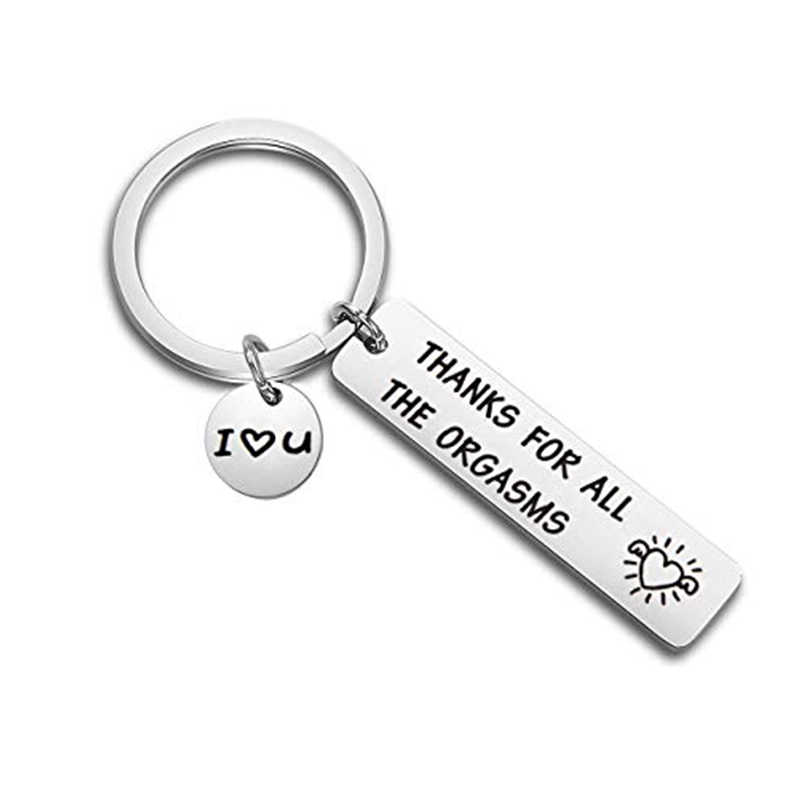 e0c439ff88 Romantic Funny Gift for Boyfriend Husband Engraved Thanks for All The  Orgasms I Love You Naughty