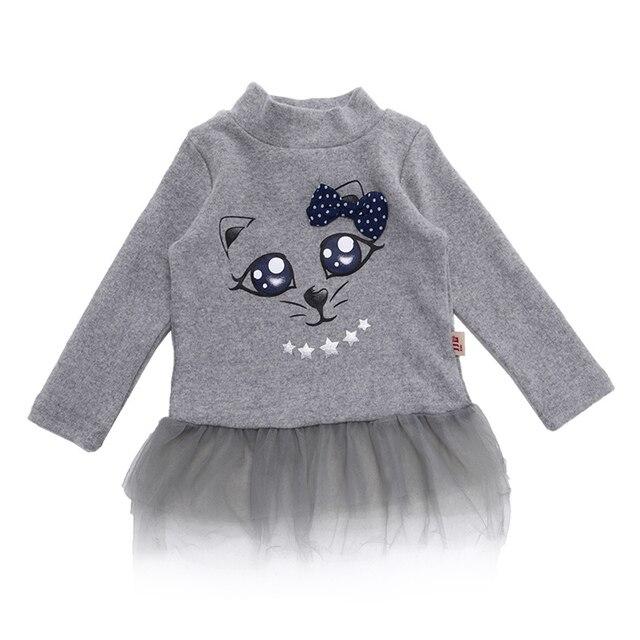 Детские футболка с длинным рукавом ребенок кружева платье принцессы новорожденных одежда малышей водолазка дна рубашки детская одежда 2015