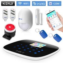 KERUI W193 WiFi 3G system alarmowy gsm niska moc przypominając PSTN RFID bezprzewodowy inteligentny system alarmowy do domu wykrywacz ruchu