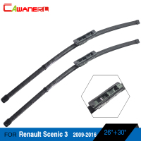 Automotive Windscreen Soft Rubber Wiper Blades For 2009 2014 Renault Scenic 3 Car Bracketless Windshield 1Pair