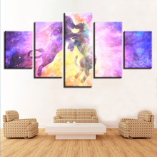 Home Room Paintings HD Printed Decor 5 Pieces Lion Animal Kissing Abstract Color Scenery Canvas Pictures Poster Modular Wall Art