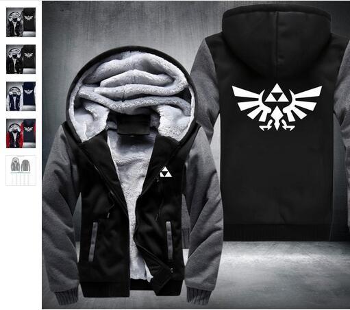Новый модный куртка с капюшоном Высокое качество Легенда о Zelda Link Для мужчин Сгущает Толстовка Для женщин аниме пальто на молнии