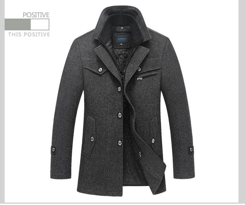 Mwxsd marca invierno abrigo de lana para hombre chaqueta de lana cálida y abrigo para hombre abrigo grueso para  30-in Chaquetas from Ropa de hombre    2