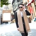 2017 venta Caliente otoño invierno bufandas 6 colores de algodón bufanda de la borla chal de lana caliente suave casual de negocios versión coreana de la bufanda hombres