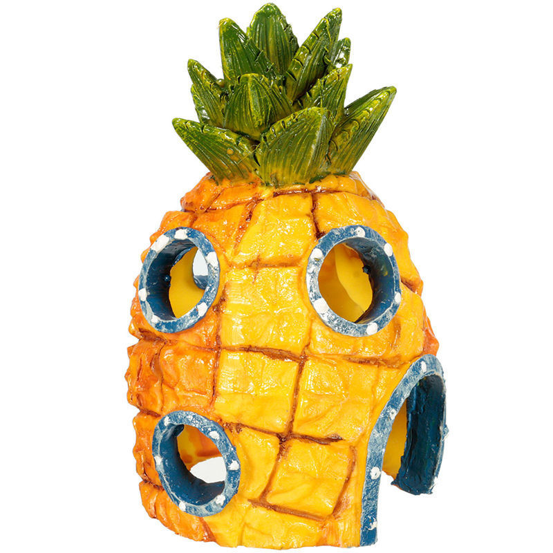 Cartoon Ananas House Fish Tank Akvarij Home aquario Okraski Escape Hole Comic Podvodni dekor