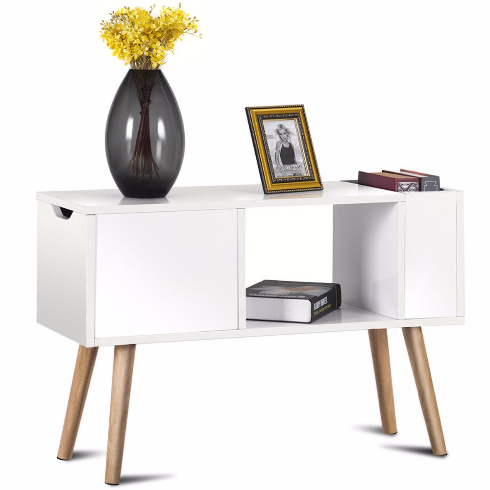 Giantex modern side table end table for bedroom living room sitting ...