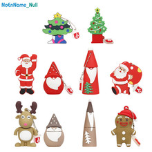 Santa Claus flash disk Silicon 2.0 usb drive 32GB memory 128GB 64GB 16GB 8GB 4GB pen Christmas Series pendrive