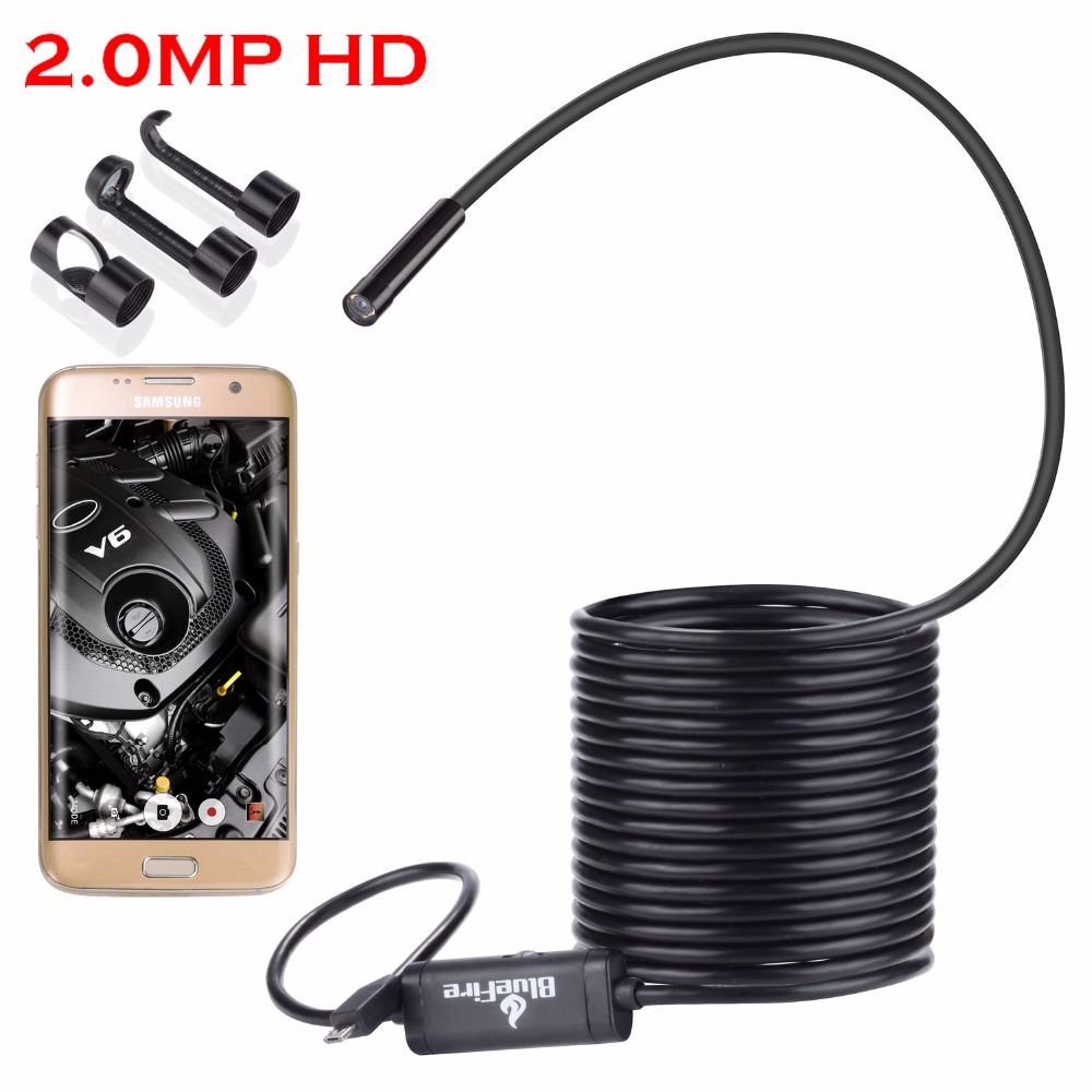 Android OTG 2.0MP HD Micro-USB Endoscope Waterproof Borescope Snake Inspection Tube for Samsung Galaxy S5 S6 S7 Note 3 4 5 6