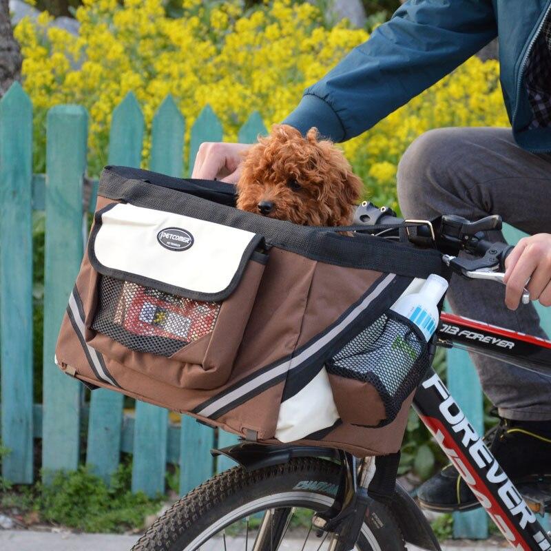 Portable Pet chien vélo transporteur sac panier Chiot Chien Chat Voyage vélo Siège porte-sac pour petit chien Produits Voyage accessoires