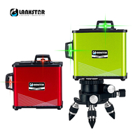 360 Degree 3D 8~12 Lines Green Red Laser Level Slash Outdoor Level 4000mA Lithium Touch Control Aluminium High precision Level