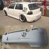 VW GOLF 4 R32 PU upainted Rear bumper Car body kit for Volkswagen Golf 4 R32 Car styling 03 05 Free shipping