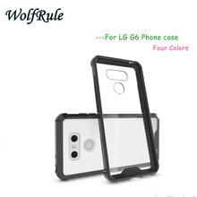 hot deal buy wolfrule fashion case for lg g6 cover shockproof tpu + transparent pc case for lg g6 case for lg g6 phone funda 5.7''<