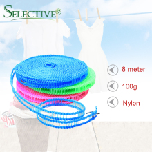 8M Anti-Slip Clothesline Convenient fence type Portable Outdoor Windproof Travel Retractable Rope Washing Line