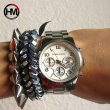 Для женщин Для мужчин для влюбленных пар, унисекс Топ Роскошные Брендовые женские платье Часы Relogio feminino кварцевые Календари наручные Водонепроницаемый наручные часы
