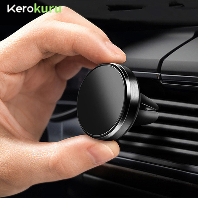 Mobile-Phone-Holder Magnet Mount Huawei iPhone Xiaomi Car-Air-Vent Samsung for 360-Degree title=
