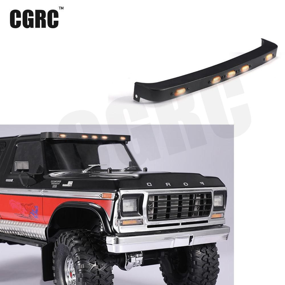 All Metal Headlights Hat Light For 1/10 Rc Crawler Car Traxxas Traxxas Ford Bronco hpi king 1973 ford bronco