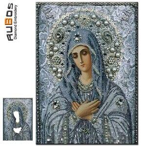 RUBOS DIY 5D diamante pintura religiones azul Virgen María rezar iconos diamante bordado 3D cristal patrones rhinestone parcial