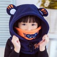 Autumn Winte Keep Warm Baby Hat Children Tiger Protective Neck Caps Cute Baby Cap Children Accessories