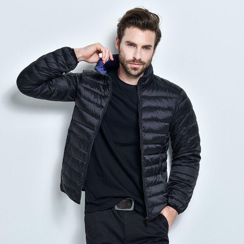 2016 kış yeni erkek aşağı ceket büyük boy ince kesit yaka ceket kısa paragraf erkek hafif çift-taraflı WZ226