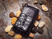 100% genuine alligator skin leather men wallet crocodile skin wallets purse with phone case holder money clip big size