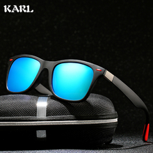 KARL Men Sports Polarized Sunglasses Retro Outdoor Fishing Driving  Mirror Women Gafas De Sol Hombre UV400