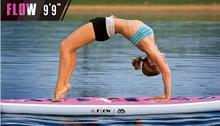 "Yoga agua inflable SUP 6 ""material cubierta aletas tri en relieve $ number PSI de presión de aire 300×81 cm stand up paddle surf almohadillas quillas"