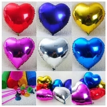 20pcs Event Balloons 10inch Heart Shaped Foil Balloon Large love wedding Happy Bithday Party Decoration Globos Air Ballons