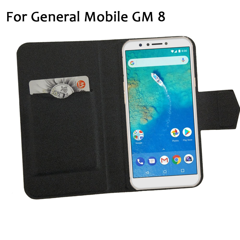 5 Colors Hot! General Mobile GM 8 Case Phone Leather Cover,Factory Price Protective Full Flip Stand Leather Phone Shell Cases