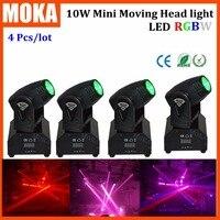 4 Pcs Lot LED Indoor Dj Light LED Mini Moving Head Light 10W Beam Moving Head