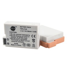 DSTE 2PCS LP E8 lp e8 Camera Battery for CANON 550D 600D 650D 700D X4 X5