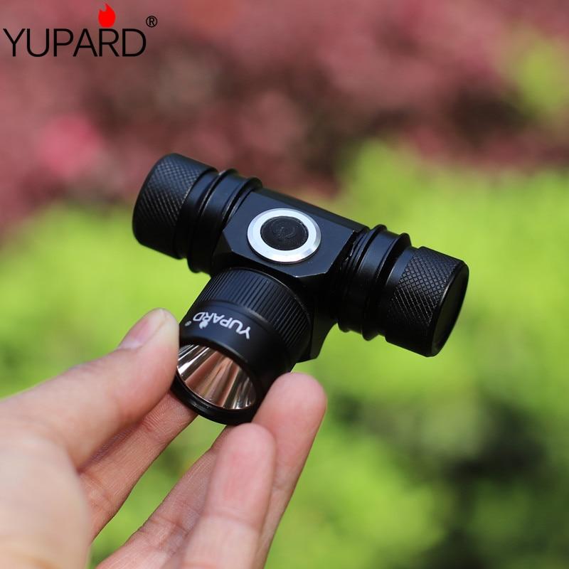 YUPARD ūdensnecaurlaidīgs XM-L2 LED lukturu priekšējais lukturis 2 režīms Ūdensnecaurlaidīgs T6 lieljaudas kempings Medības uzlādējams 18650 akumulators