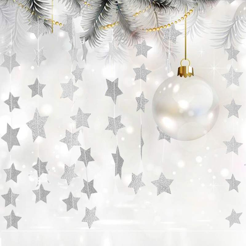 4M Star Paper Garland Wedding Christmas Festive Holiday Home Ceiling Decor