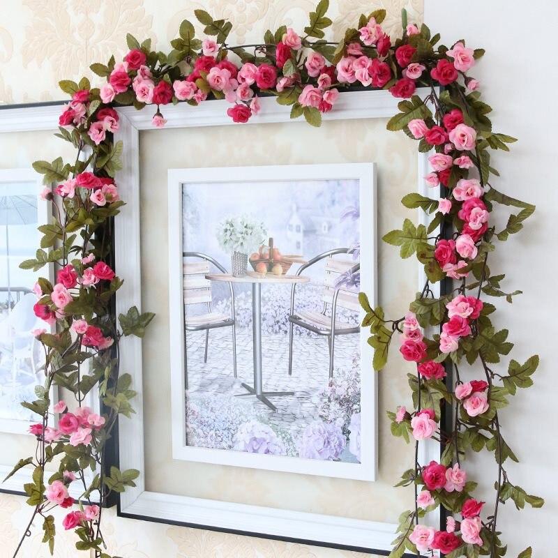 Wedding Flower Garlands: Wedding Flower Vine 1 Pc Artificial Silk Rose Hanging