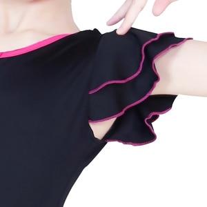 Image 5 - Children Latin Dance Dress V neck Short Sleeve Suit Dance Practice Clothes Girls Latin Dance Skirt