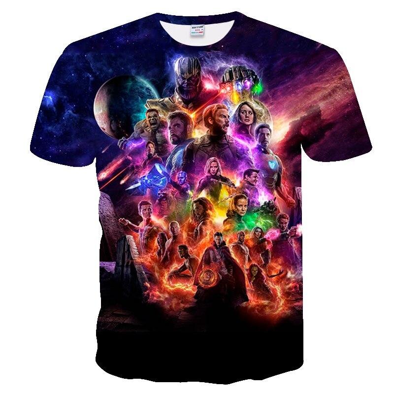 2019 NEW Marvel Avengers 4 Final T Shirt 3d Printing Superhero America T Shirt Cosplay T Shirt Men New Summer Fashion T Shirt