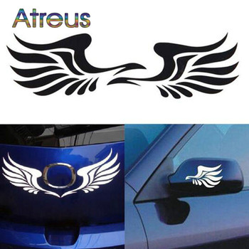 Auto Rearview mirror decorative wings sticker decal for BMW E36 E46 E90 E39 E30 F30 F10 F20 X5 E53 E70 E87 E34 E92 M Accessories image